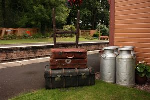 Lugguage at Crowcombe Heathfield station, Somerset, UK