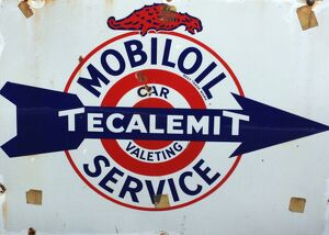 Mobil oil vintage advertising poster