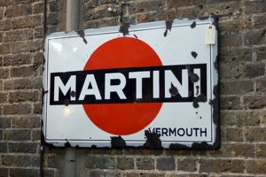 Old metal Martini sign at Spitalfields Market, London