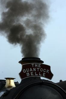 The Quantock Belle at Bishops Lydeard station, Somerset, UK
