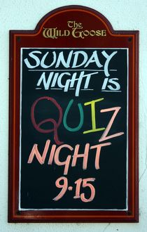 Quizz night sign