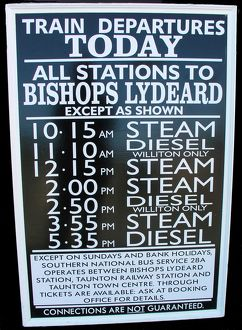 West Somerset Railway, Minehead station timetable