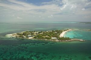 An aerial view of Little Whale Cay