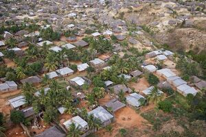 Aerial view of the suburbs of Pemba