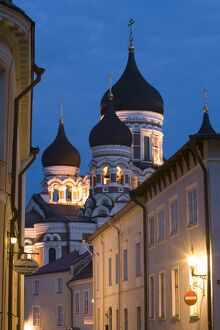 Alexander Nevsky Church at Dusk