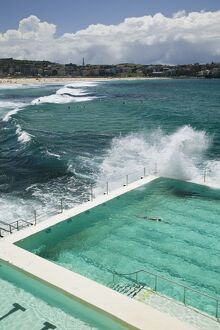 Australia, New South Wales, Sydney, Bondi Beach, Bondi Icebergs Swimming Club Pool