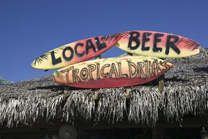 Beach Bar Sign, Grand Cayman, Cayman Islands, Caribbean
