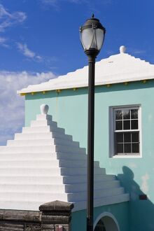Bermuda, traditional white stone roofs on colourful Bermuda houses