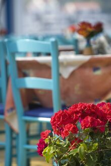 Cafe Table, Kokkari, Samos Island, Greece