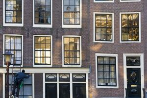 Canalside houses, Amsterdam, Holland