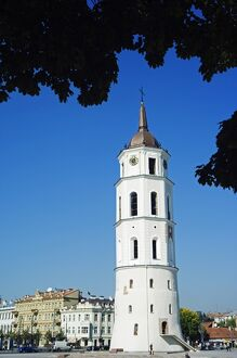Cathedral Bell Tower 13th Century part of Vilnius Unesco