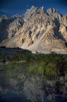 Cathedral spire mountains Passu in northern