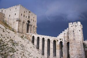 The Citadel before a storm, Aleppo