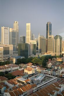 City Skyline & Chinatown Rooftops, Singapore