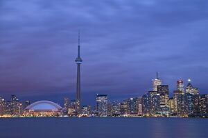 CN Tower and Toronto Skyline at dusk