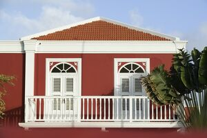 Colorful Aruban Government Building, Oranjestad, Aruba, Caribbean