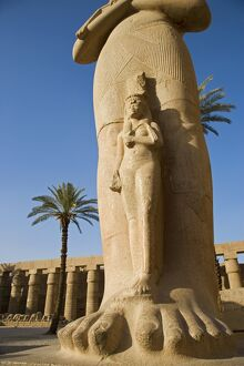 A colossal statue of Ramses II with his daughter Benta-anta