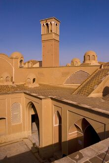 The courtyards and windtowers of traditional houses Kashan