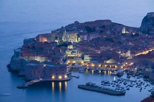 Croatia, Southern Dalmatia, Dubrovnik, Old Town and harbour