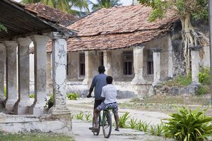 Crumbling colonial villas on Ibo Island