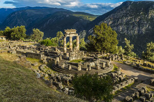 new april 2019 b/delphic tholos archeological site delphi phocis