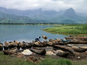 Dugout canoes used for fishing, iUluguru Mountains