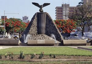An eagle, the national emblem of Zambia