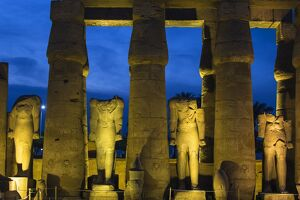 Egypt, Luxor, Luxor Temple, The First Court, Statues of Ramesses II