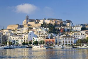 Eivissa or Ibiza Town & harbour, Ibiza, Balearic Islands, Spain