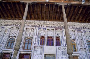 The elaborate tiled facade of Fayzulla Khujayev House