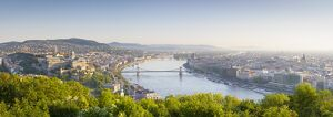 Elevated view over Budapest & the River Danube, Budapest, Hungary