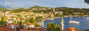 elevated view picturesque harbor town cavtat cavtat