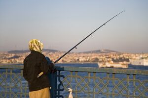 Fishing on the Galata Bridge, Istanbul