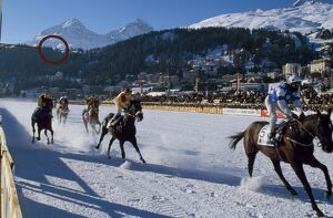 Flat racing on the frozen lake at St Moritz