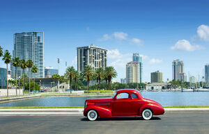 Florida, Saint Petersburg, Pinellas County, 1930's Ford Coupe, Classic Car, Tampa Bay