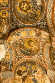 Frescoes, rock-cut Byzantine Karanlik Kilise (Dark Church)
