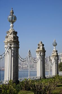 The gates of the Dolmabahce Palace in Istanbul