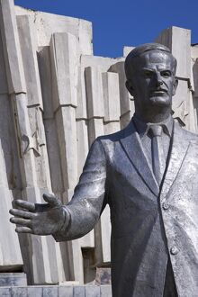 A giant statue of Hafez al Assad in downtown Damascus