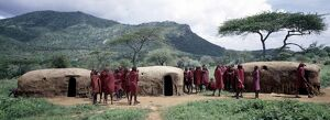 A group of Maasai warriors