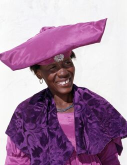 An Herero woman in traditional attire