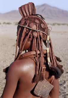 A Himba woman in traditional attire