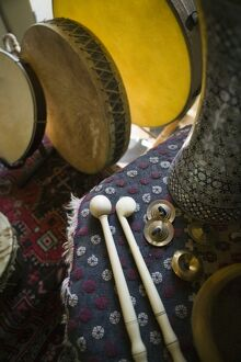 Historic Cretan Musical Instruments, Crete, Greece