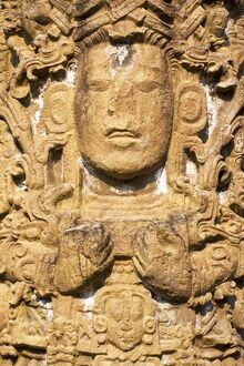 Honduras, Copan Ruinas, Copan Ruins, The Great Plaza, Stela A, 731 A.D.