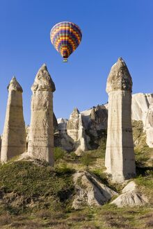 Hot Air balloon over the Phallic pillars (Fairy Chimneys)