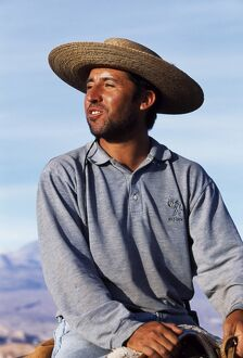 A huaso or Chilean cowboy