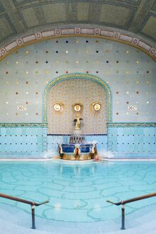 Hungary, Central Hungary, Budapest. Completed in 1918, Gellert Thermal Baths consists