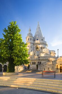 Hungary, Central Hungary, Budapest. Fisherman's Bastion takes it's name from the