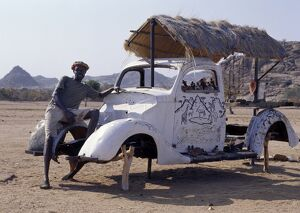 An innovative roadside craft stall owned by an Herero man near Twyfelfontein.