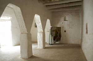 Interior of one of the schools in the ancient medina of Ghadames