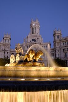 La Cibeles Fountain, Plaza de La Cibeles, Madrid, Spain